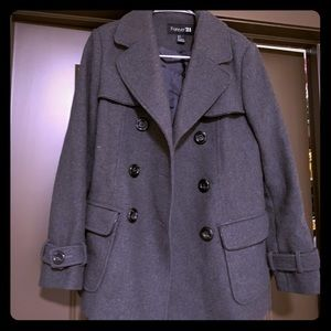 Forever 21 Peacoat | Size Small